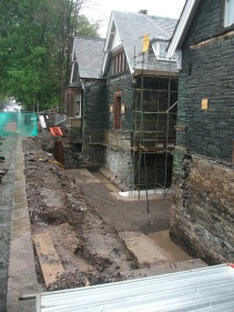 Excavation for new below ground archive storage