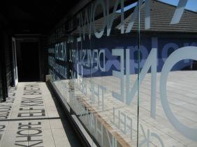 Main entrance glazed screen