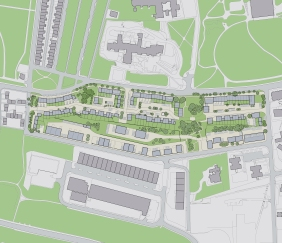 Urban living masterplan 150 homes