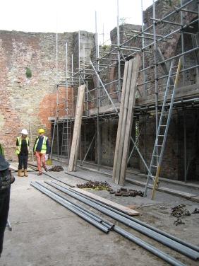 Scaffold installation in progress