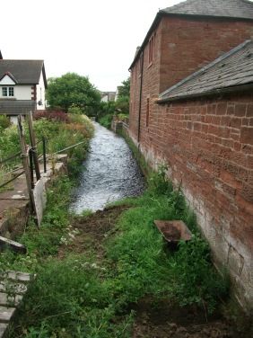 View up the mill race