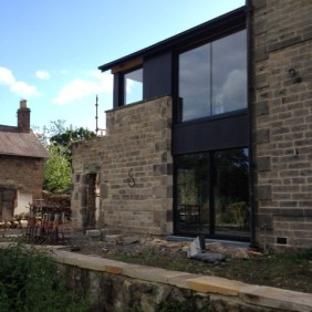 Re-use of existing stone to new extension