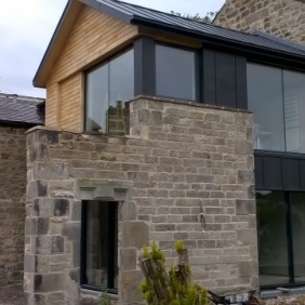Sweet chestnut and zinc clad extension