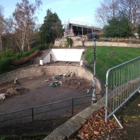 Wharton Park - Today's view across the amphitheatre