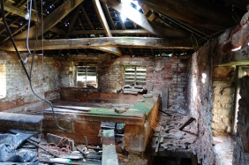 Internal view of upper kiln - prior to restoration