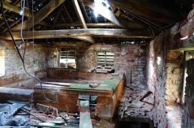 Internal view of upper kiln - prior to restoration