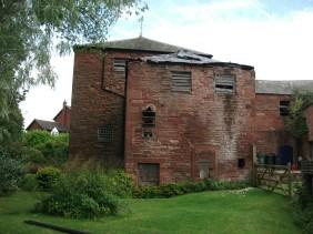 West elevation - kiln building prior to restoration