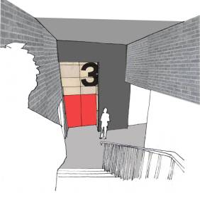 View to new Stage 3 entrance