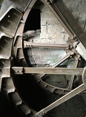 Wheel buckets removed by Traditional Millwrights as part of restoration works