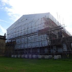 West Wing scaffolding